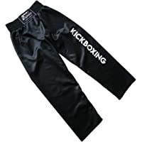 4Fighter Pantalones de Contacto Completo Kickboxing Negro Negro