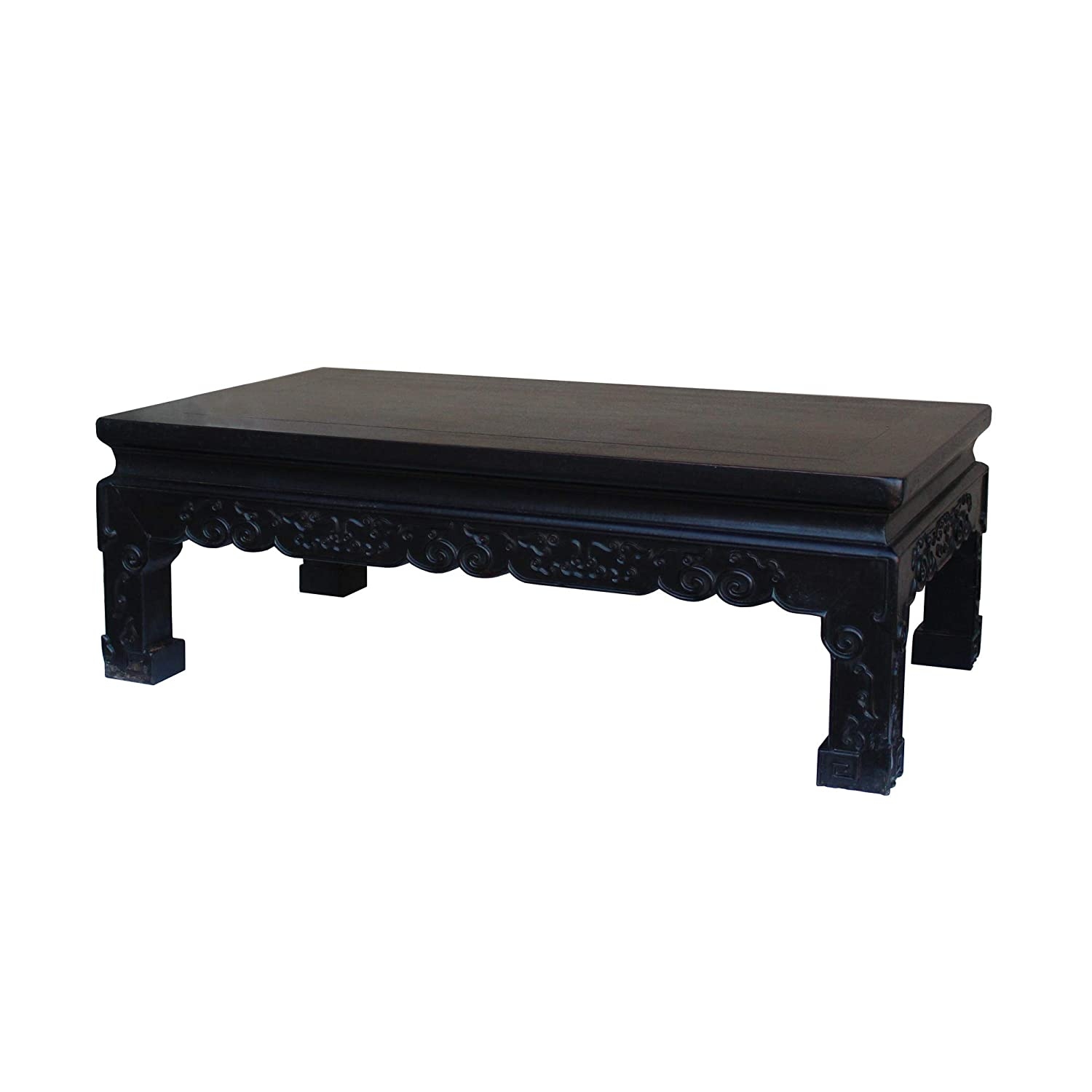 Merveilleux Amazon.com: Chinese Handmade Dark Brown Rosewood Low Kang Table Stand  Acs4815: Kitchen U0026 Dining