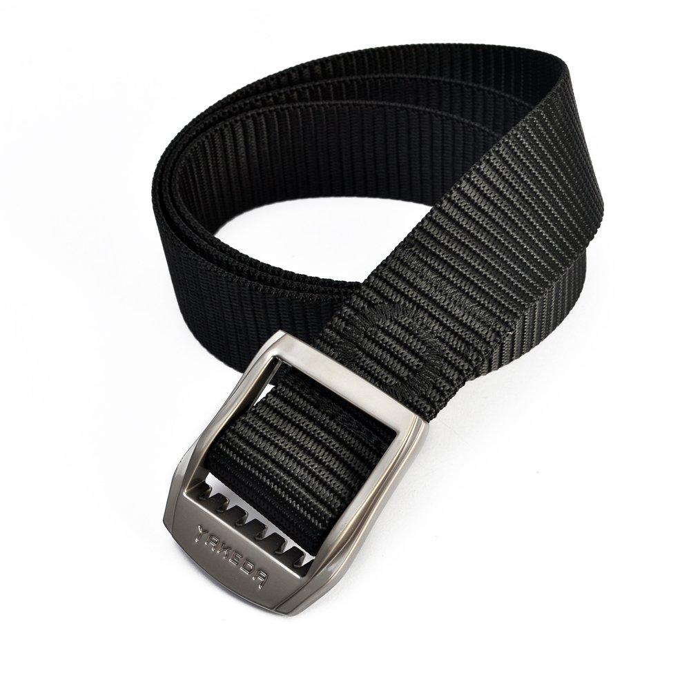YAKEDA - Cinturón táctico de nailon multifunción, cinturón de rescate de emergencia, cinturón de supervivencia ajustable para exteriores,…