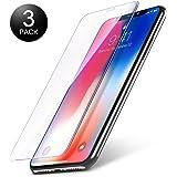 Vetro Temperato iPhone X/XS, Vontox Pellicola Protettiva per iPhone X/XS, 0,25mm, 9H Durezza, 3D Toccare, HD Alta trasparente