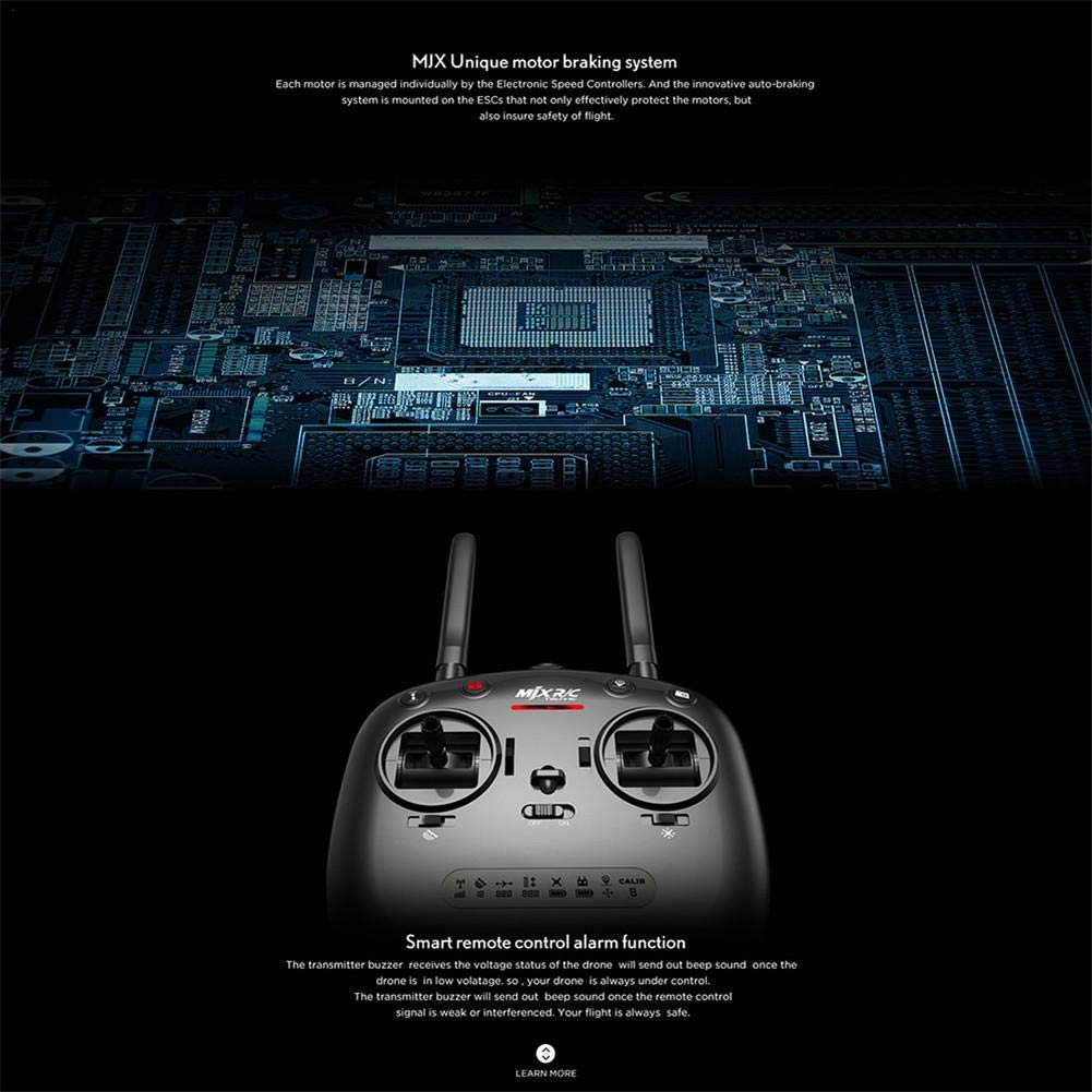 Drone Con Control Remoto, MJX Bugs 5W Drones Con Camara HD Para GPS Gran Angular 1080P 5G Wifi FPV Funciones De Aterrizaje Y Despegue, Fotográfica Aérea Por ...