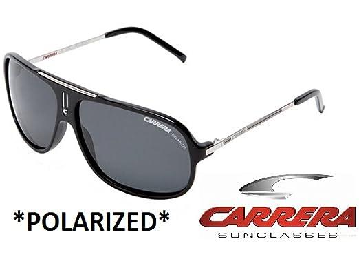 a70748c8d5b11 Amazon.com  Carrera Sunglasses shiny black w polarized grey lenses ...