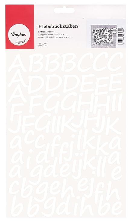Rayher Hobby 38921000 Lettere Corsivo Autoadesive 3 Cm A4 Bianco