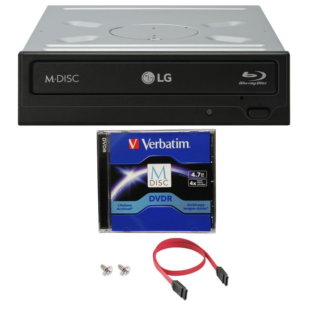 Produplicator Bundle of LG 14x WH14NS40 Internal Blu-ray Writer with 1 Pack M-DISC DVD and Cable Accessories by LG (Image #1)