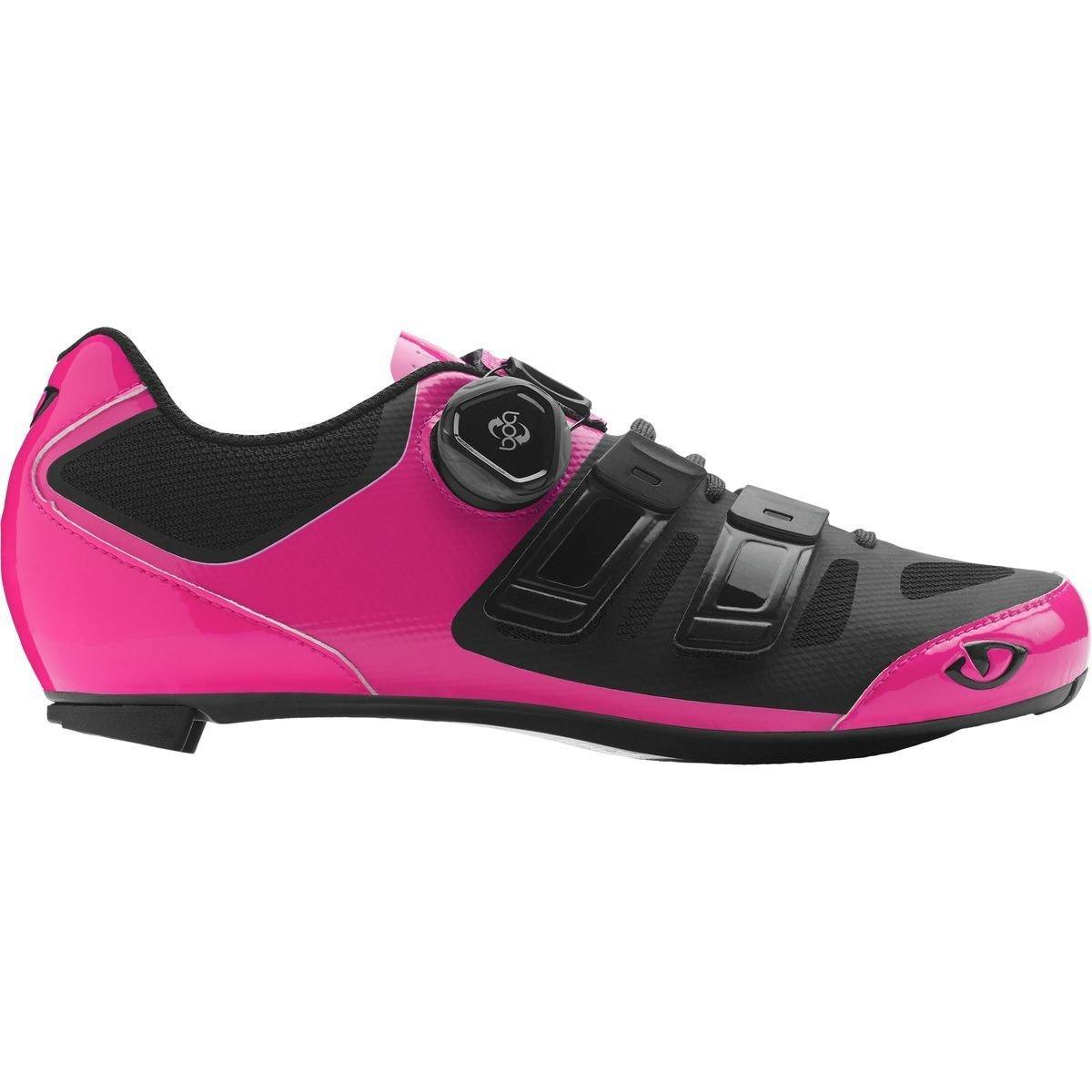 Giro Raes Techlace Cycling Shoe - Women's Bright Pink/Black 39.5