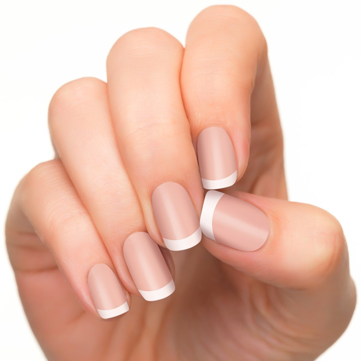 Amazon.com : Incoco Nail Polish Strips, French Manicure, White Cloud ...