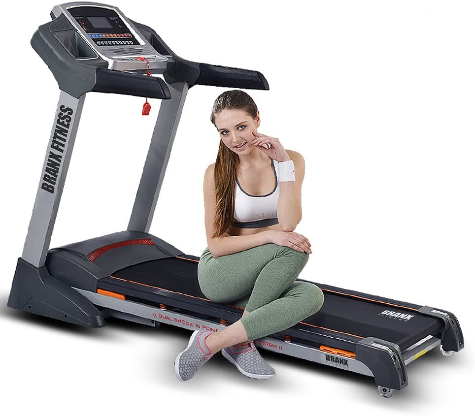 BRANX FITNESS / 23kph 6.5hp 0 22/% Auto Incline Foldable Elite Runner Pro Treadmill
