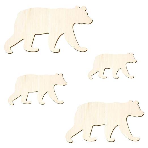Braunbär Basteln Deko Holz Bär 3-50cm Breite