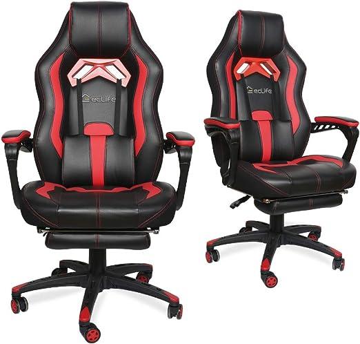 Amazon Com Luckwind Video Gaming Chair Racing Recliner