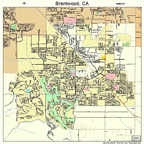 Amazon Com Large Street Road Map Of Brentwood California Ca
