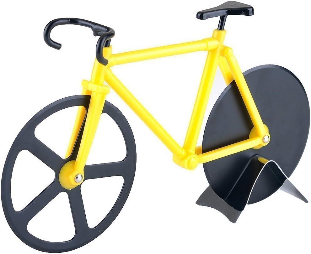 Cuchillo de corte de pizza para bicicleta, acero inoxidable dual ...