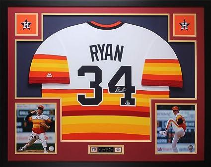 the best attitude 5a983 c3bcf Nolan Ryan Autographed Rainbow Houston Astros Jersey ...