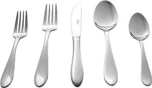 Culina Lorena 20pcs Flatware for 4, 18/10 Stainless Steel Silverware Mirror Finish