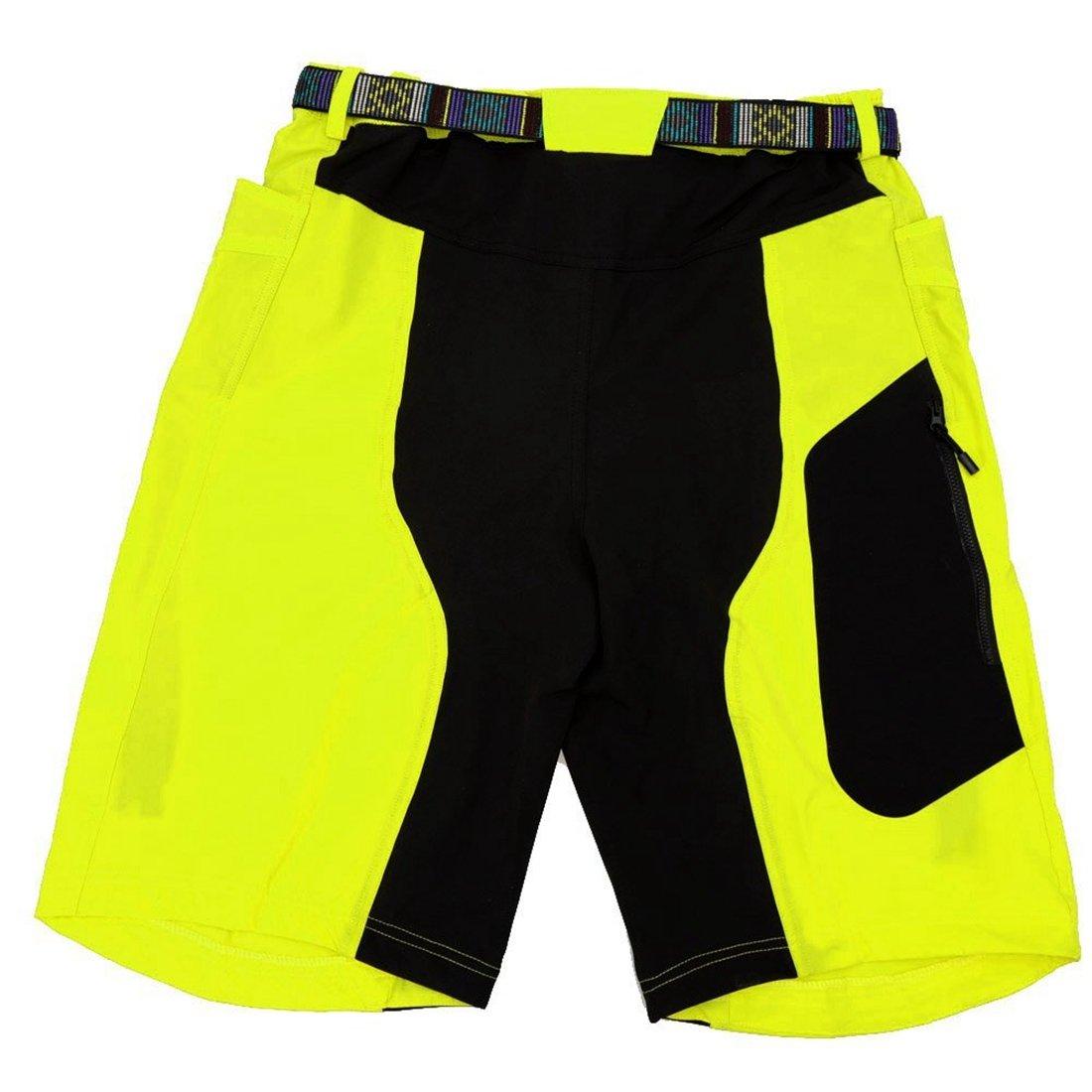 ARSUXEO Herren Outdoor Sport MTB Hose, Gelb XL(CN) L(EU