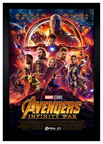 "Avengers Infinity War Movie Poster 24""x36"" Framed Poster"