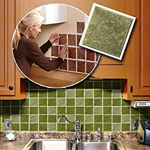 Amazon Com Self Adhesive Backsplash Wall Tiles Home