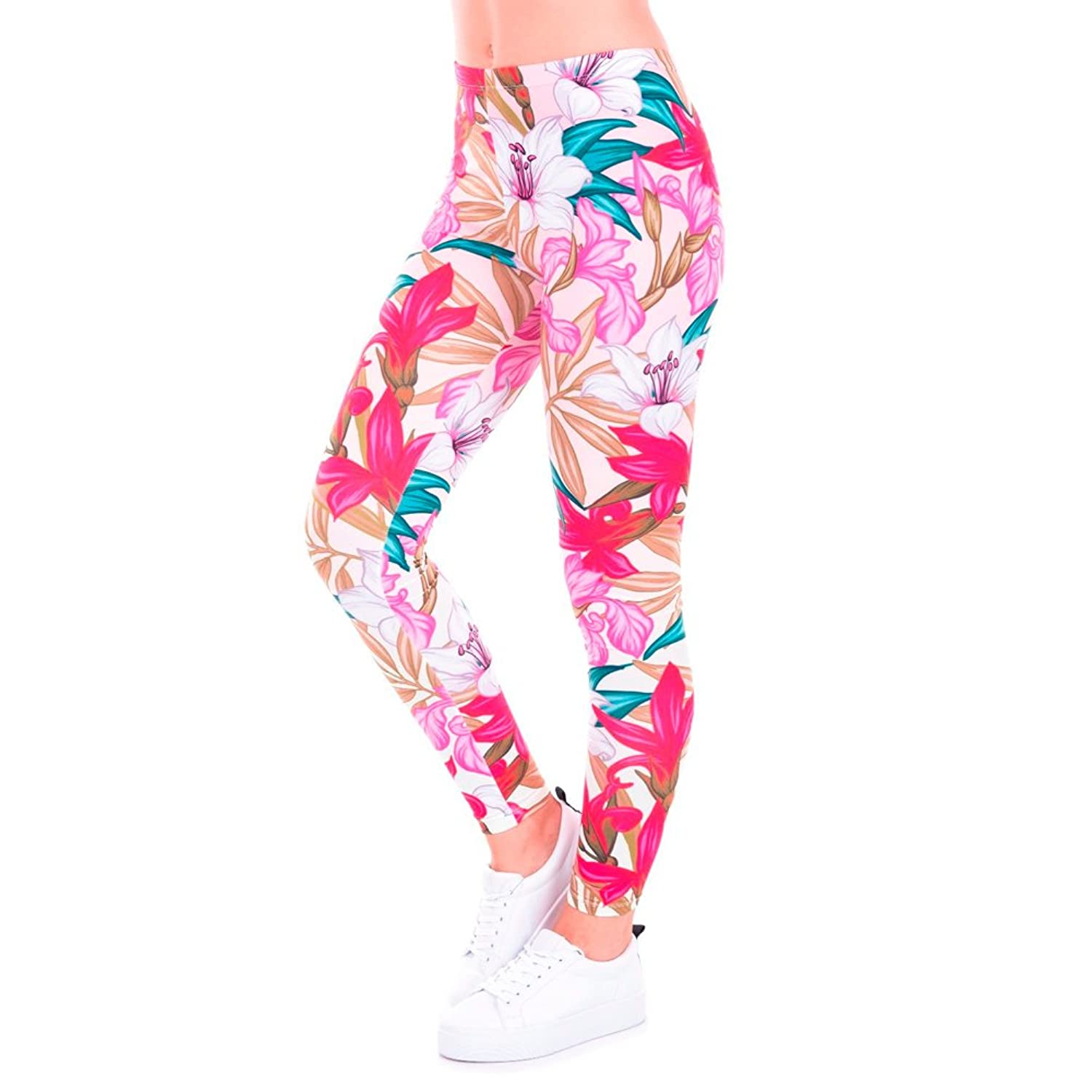 5571e36e731a IDSK Sexy Galaxy Floral PARADISE FLOWERS Printed Leggings for Women 60%OFF