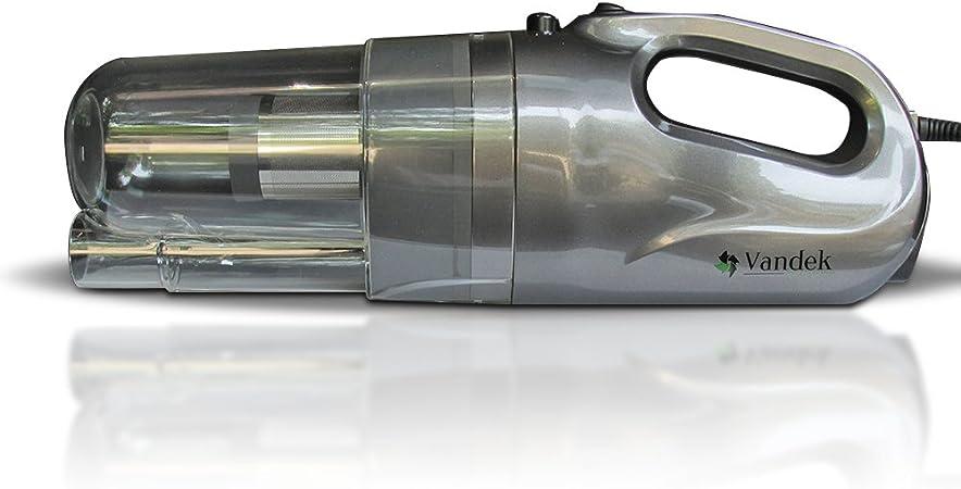 vandek mano coche aspiradora sin bolsa 12 V con funda de transporte para automóviles Vac aspiradoras de mano: Amazon.es: Hogar