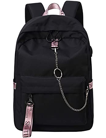 Amazon.com  El-fmly Fashion Backpack with USB Port b9aa5a41e0d71