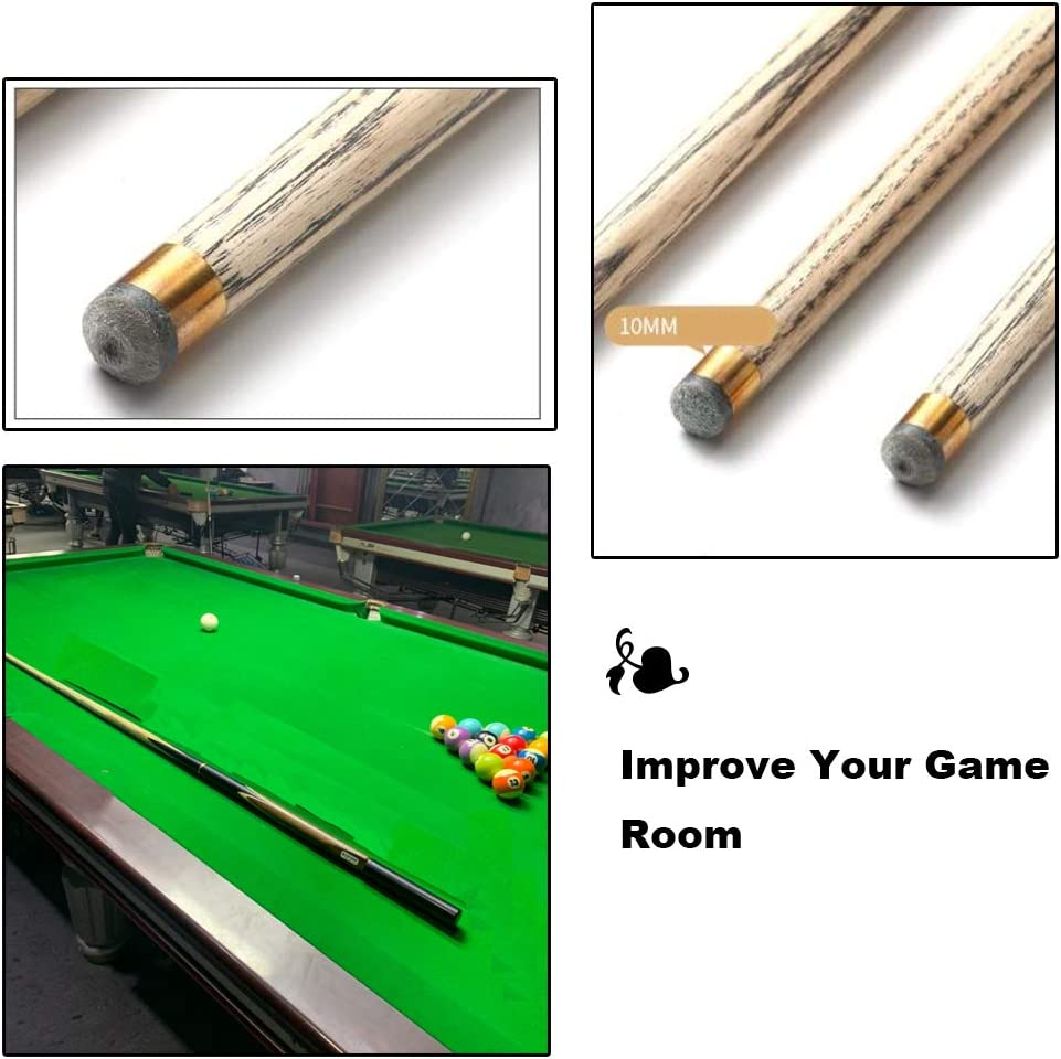 L-KCBTY Pool Cue-Taco De Billar Desmontable-Hecho A Mano Punta Enroscable De 10mm,Taco De Snooker(2 Pcs): Amazon.es: Hogar