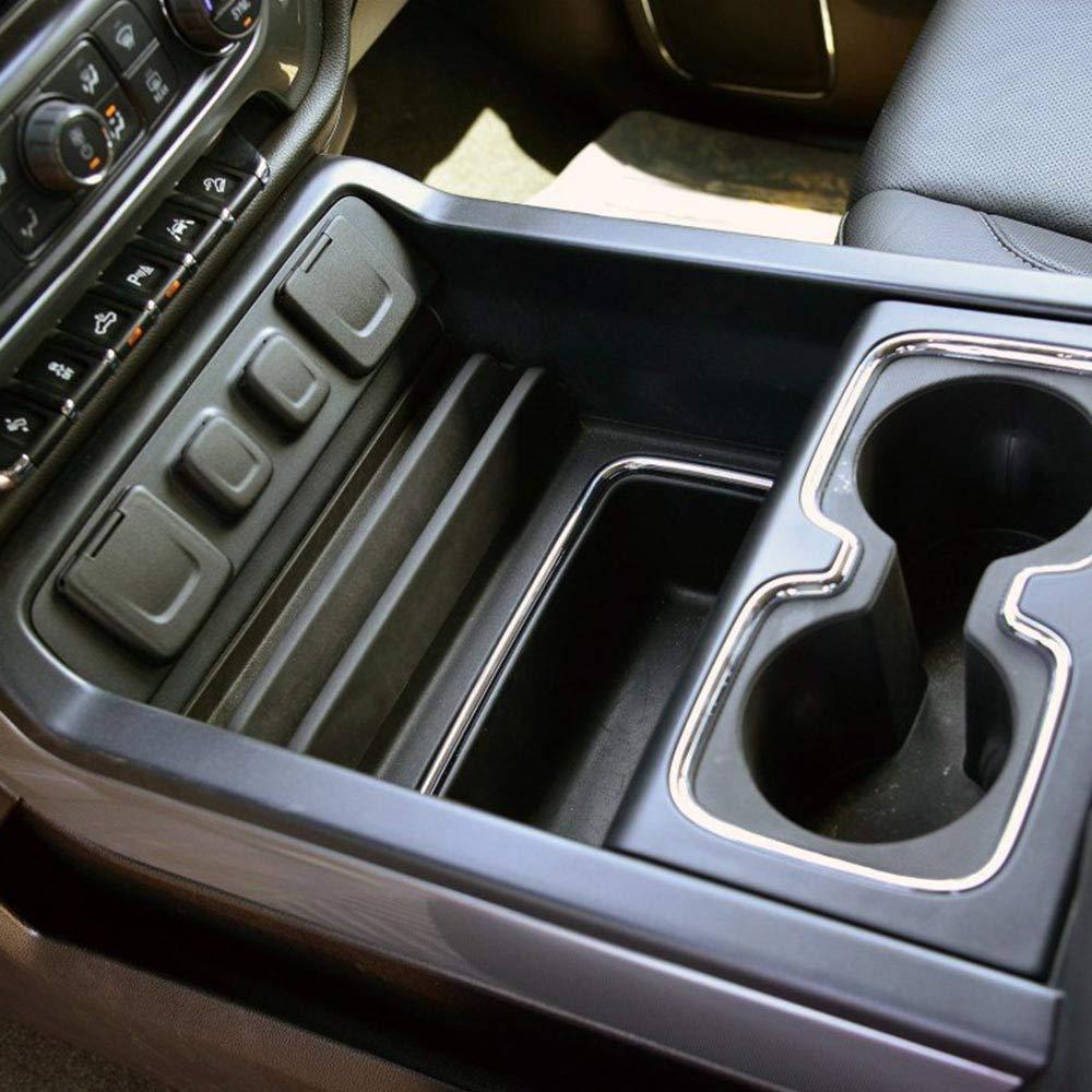 Autou Cahant Secret Compartment Center Console Organizer Tray with Non-Slip Mat Compatible 2014-2018 GMC Chevy Chevrolet Silverado Accessories