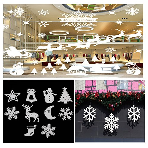 10pcs Christmas Xmas Wall Hanging Decoration Snowman Santa Clau Snowman Christmas Party Decoration (And Hearth Show Patio)