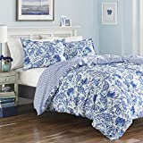 overstock duvet cover Poppy & Fritz Brooke Duvet Cover Set, King, Blue