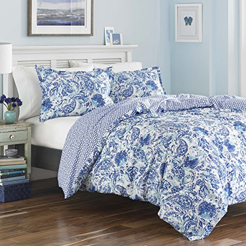 Poppy & Fritz Brooke Duvet Cover Set, King, Blue