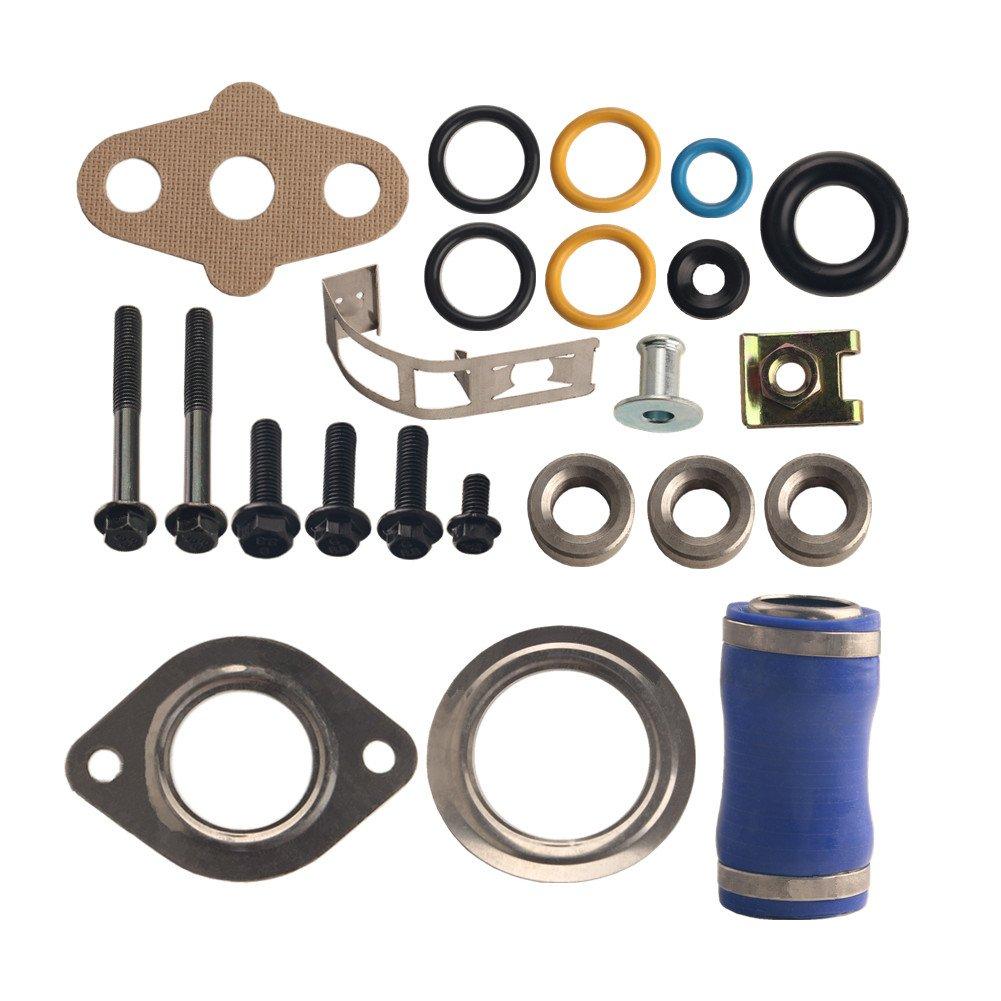 Dewhel Cooler Gasket Kit for Ford F 250 F 350 F 450 6.0L V8 Power Stroke Diesel Turbo