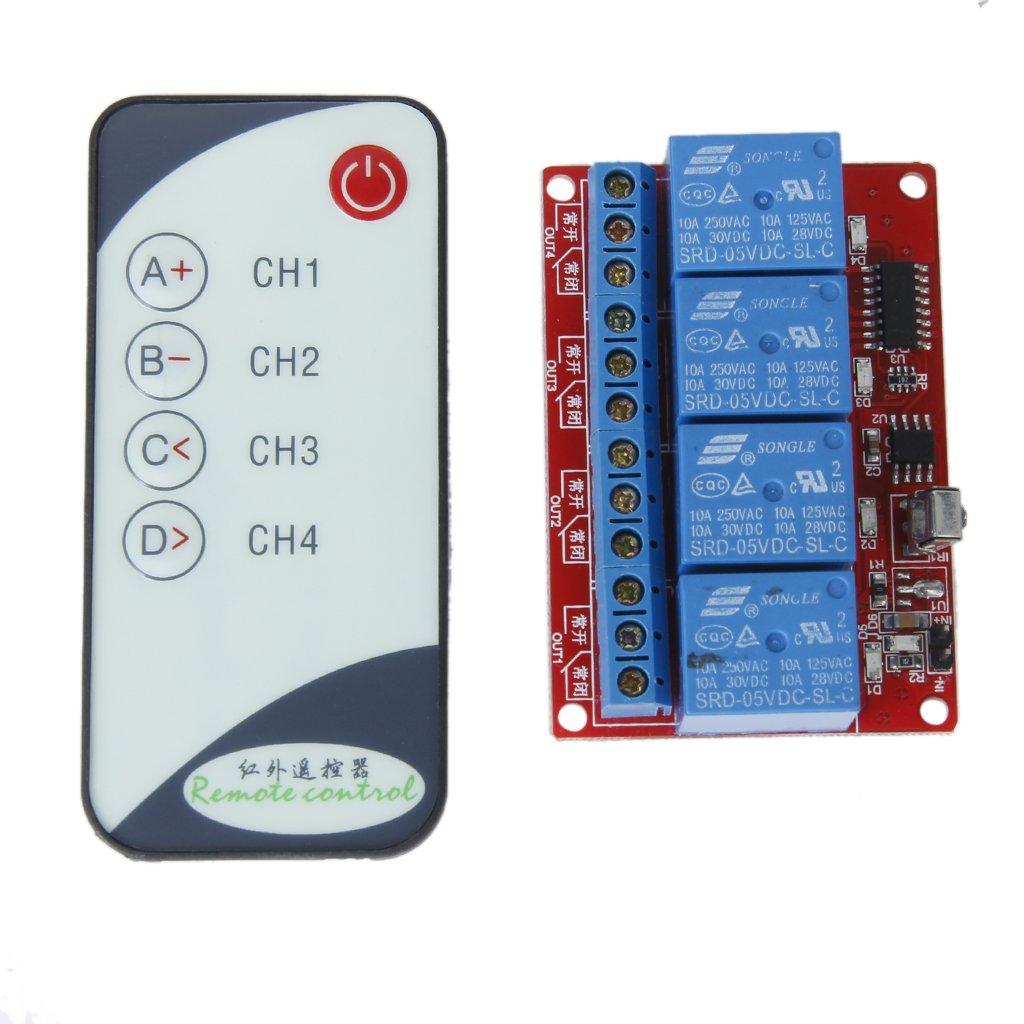 4 Canales 5V LED Módulo de Relé Control Remoto Remote Infrarrojos Unbekannt
