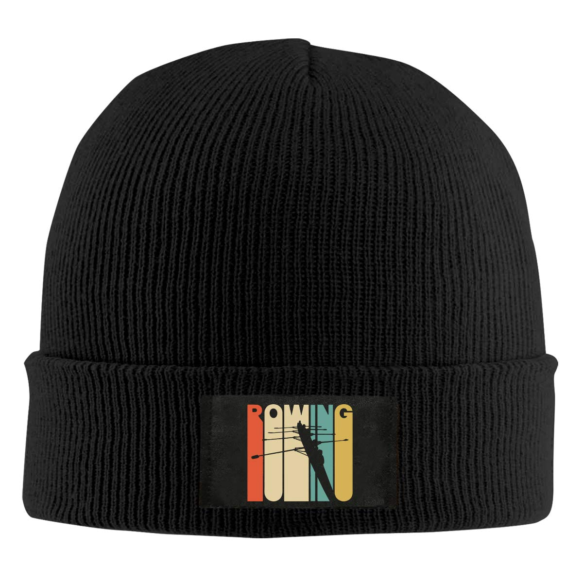 Mens and Womens Vintage Style Rowing Silhouette Knit Cap 100/% Acrylic Trendy Skull Cap