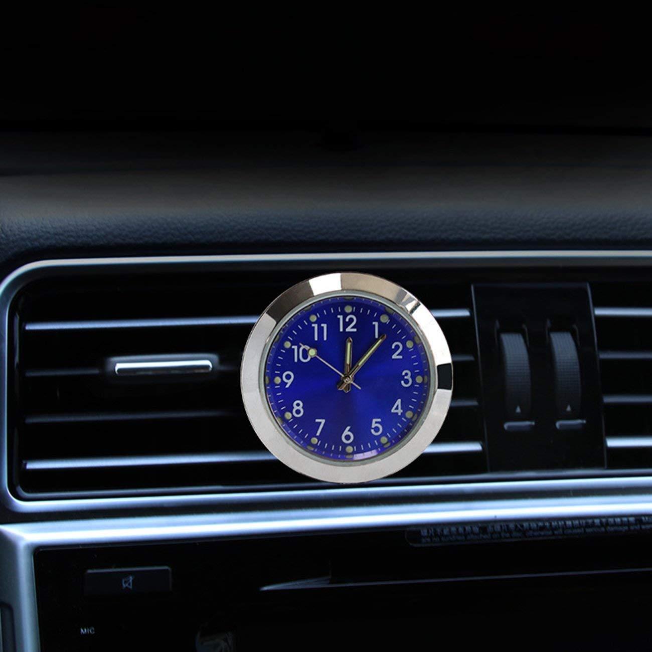 Fannty Auto Armaturenbrett Uhr Parf/üm Universal Car Air Vent Aromatherapie Quarzuhr Auto Innenraum Uhr mit Clip Perfekte Dekoration Kompatibel f/ür Auto und SUV Ideales Geschenk