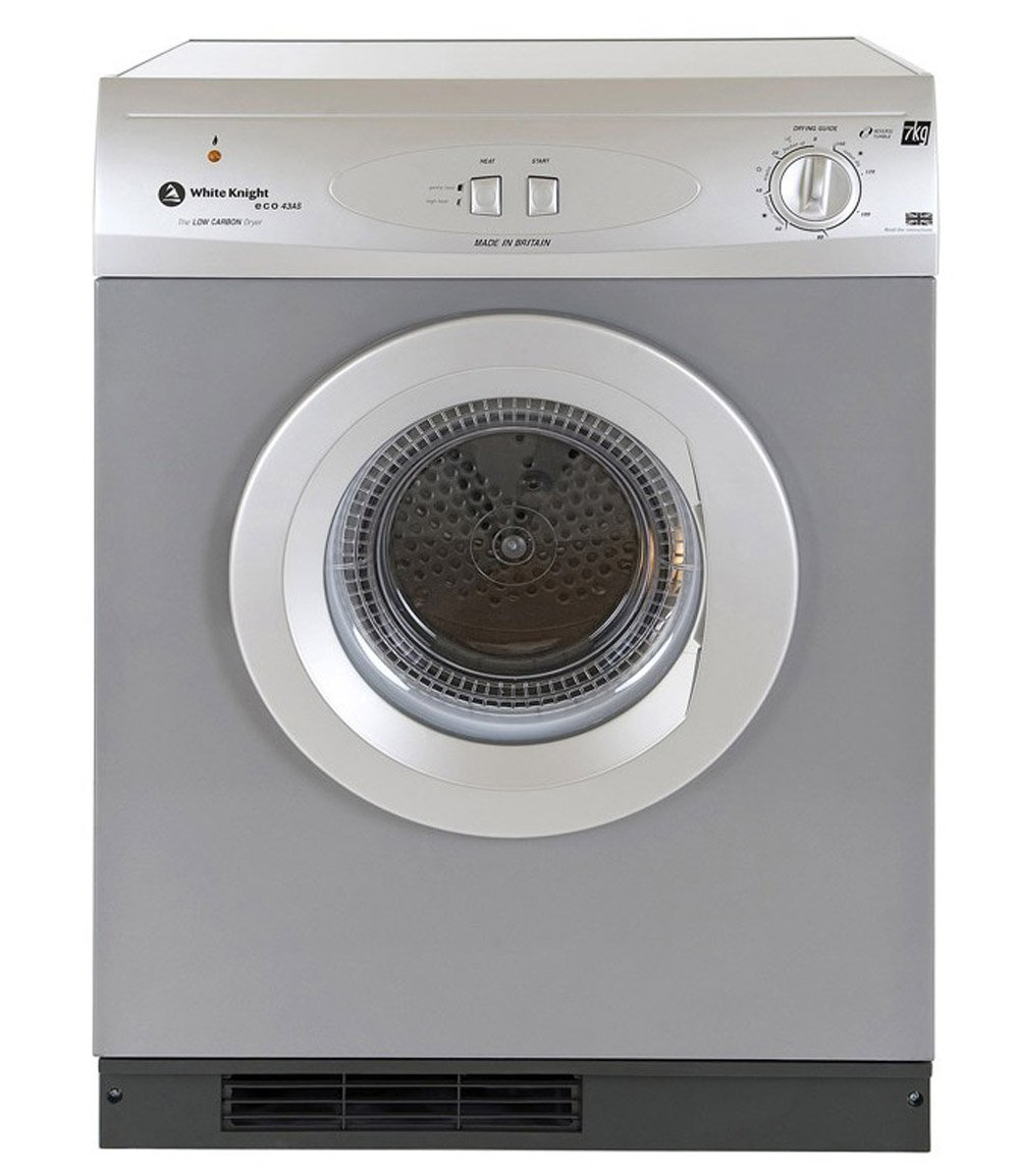 White Knight C44A7S 7kg Vented Tumble Dryer Silver: Amazon.co.uk: Large  Appliances