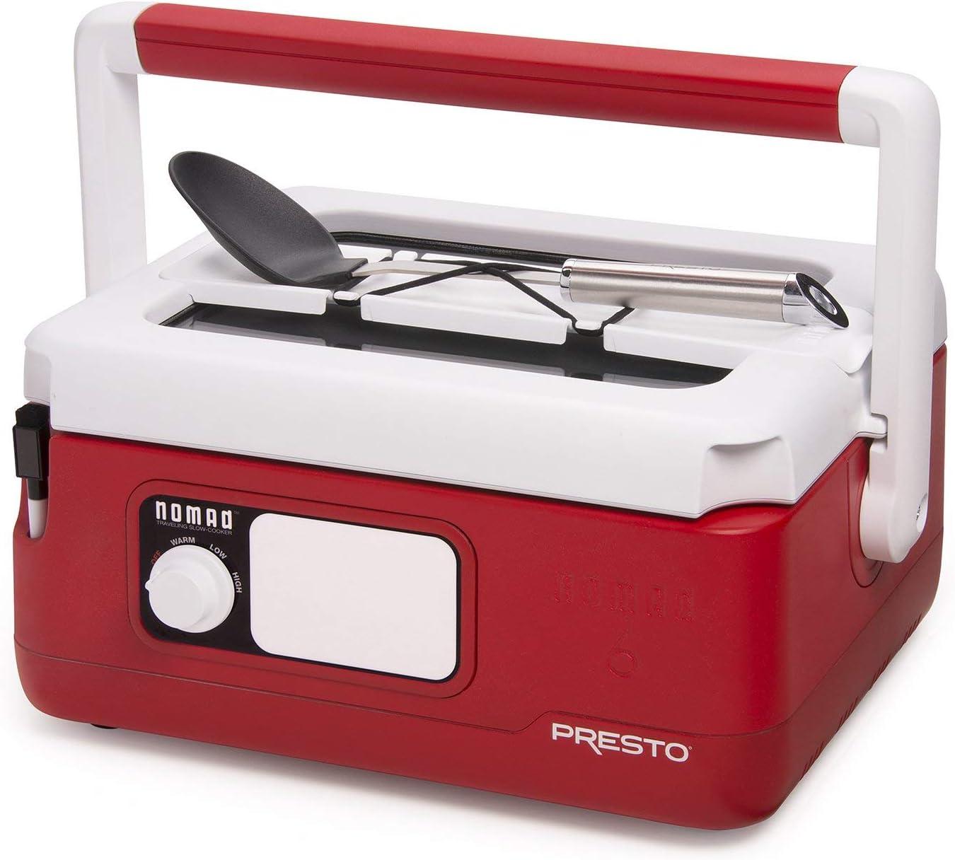 Presto 06011 Slow Cooker, Red (Renewed)