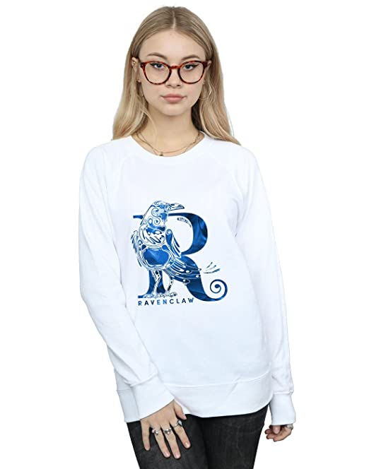 Absolute Cult Harry Potter Mujer Ravenclaw Raven Camisa De Entrenamiento Blanco Small