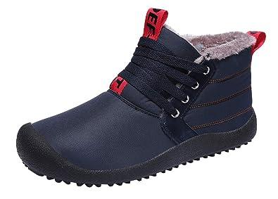 Stivali Donna Invernali Uomo Stivali da Neve Stivaletti Caviglia Caldo Impermeabile Boots Antiscivolo Scarpe Inverno ll'aperto
