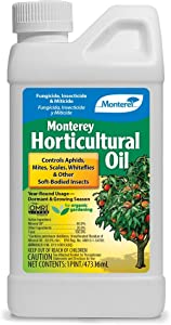 Monterey LG 6286 Horticultural Oil Concentrate Insecticide/Pesticide Treatment for Control of Insects, 16 oz