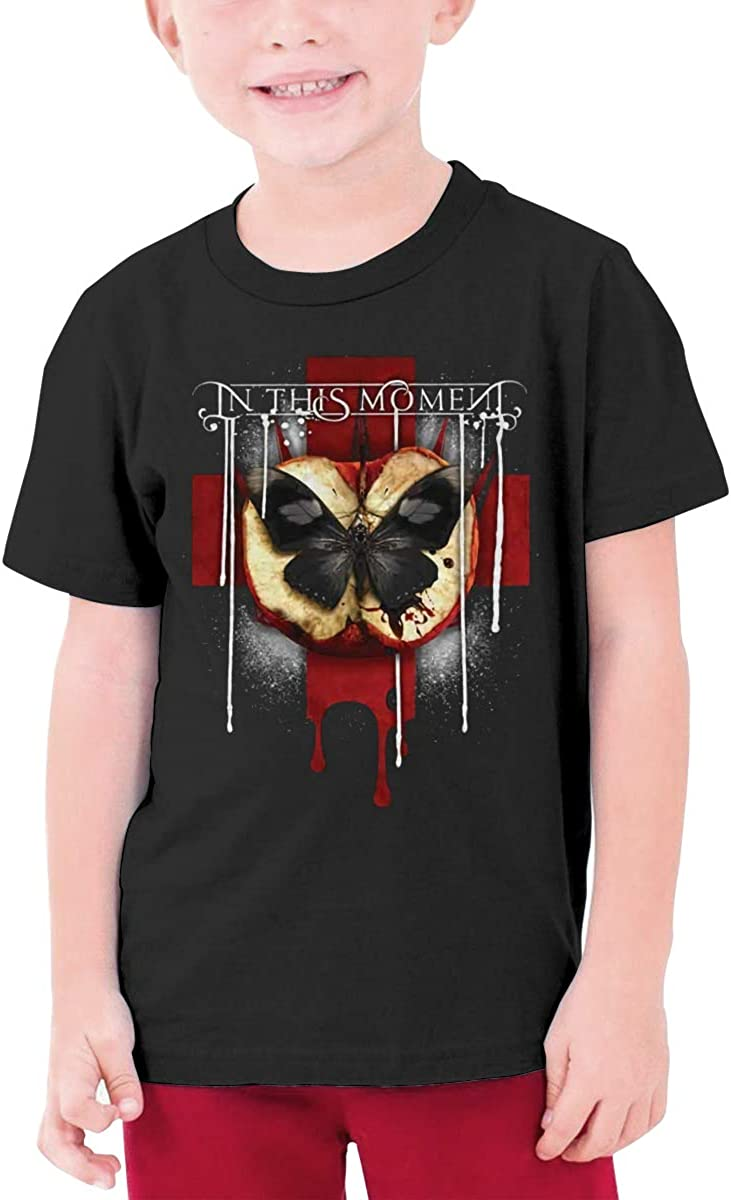 in This Moment Rotten Apple Band Logo Youth Short Sleeve Tee Tops Boys Girls Tee Shirt