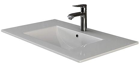 VILSTEIN© lavabo ad incasso in ceramica, Bianco: Amazon.it ...