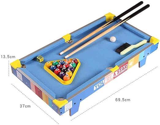 Jiamuxiangsi- Juguetes - Billar Billar pequeño Juguetes Mini Mesa de Billar - Juguetes educativos - Regalos para niños y niñas - 1-3-5-7-9 -Juegos Inteligentes (Color : Azul): Amazon.es: Hogar