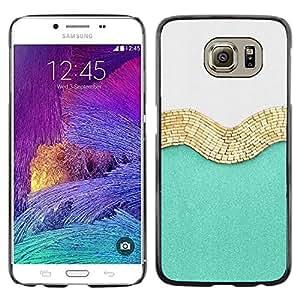 [Neutron-Star] Snap-on Series Teléfono Carcasa Funda Case Caso para Samsung Galaxy S6 [Oro Blanco Brillante Moda Moda]