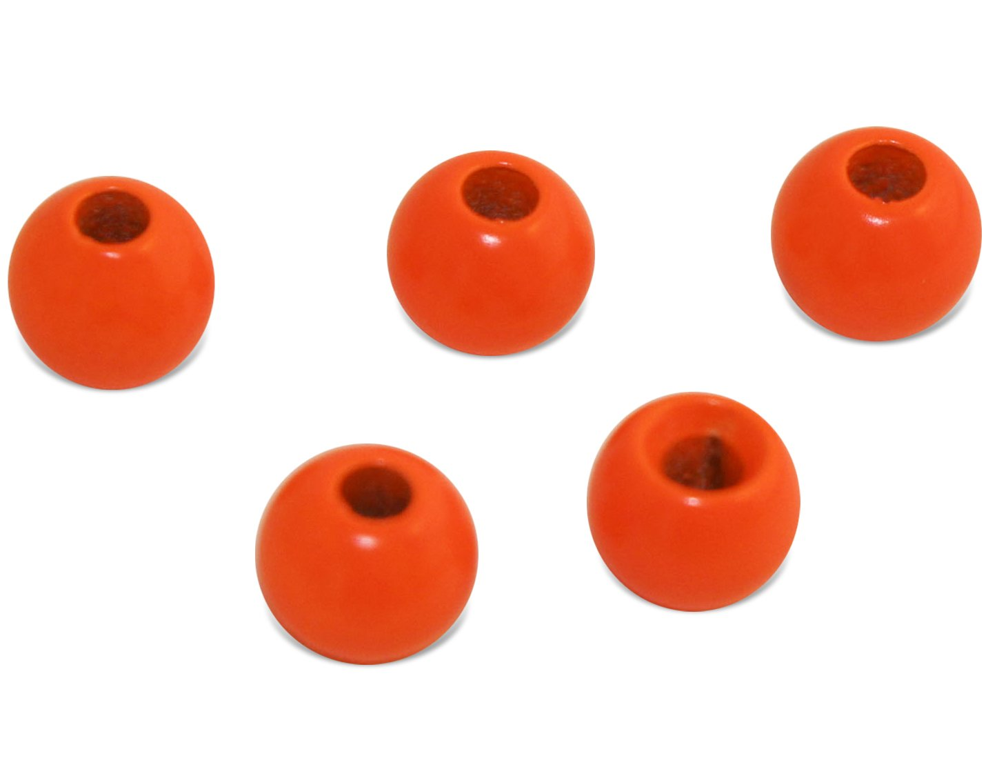Prime Fish Co. Brass Fly Tying Bead Heads 100 Count (2.0mm, Fluor Red)