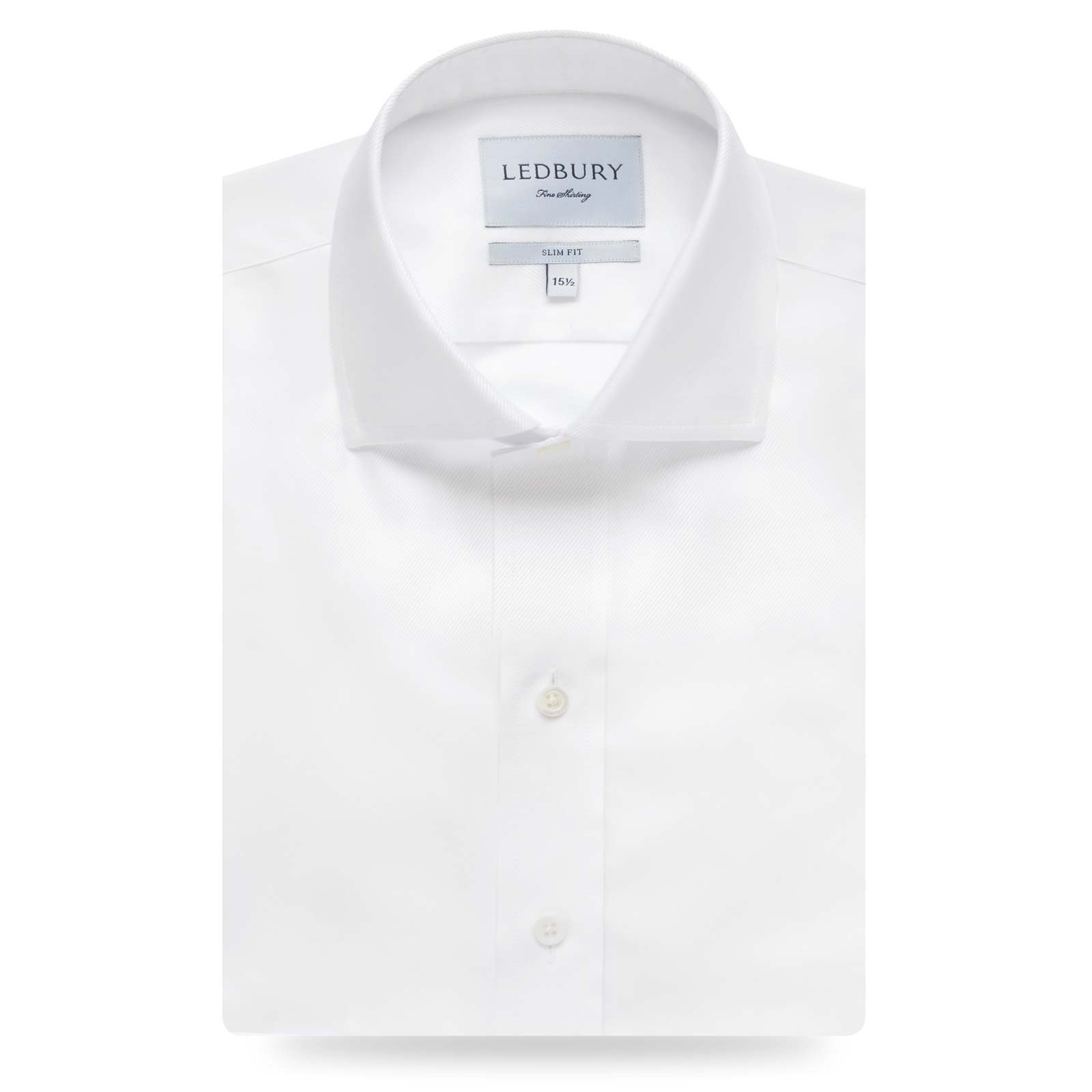 The White Fine Twill Spread Dress Shirt