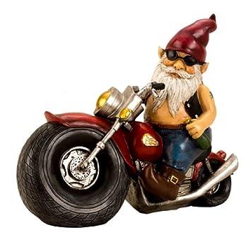 Nain de jardin de moto Multicolore Céramique 2 pcs. culte de la Nain ...
