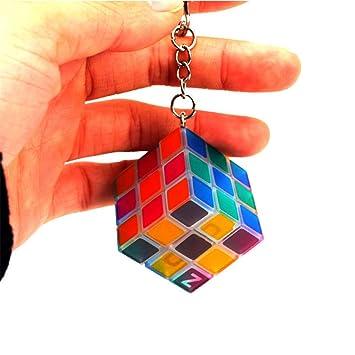 keemdox 3X3X3 Luminoso Cubo Mágico Llavero Colgante Mini ...