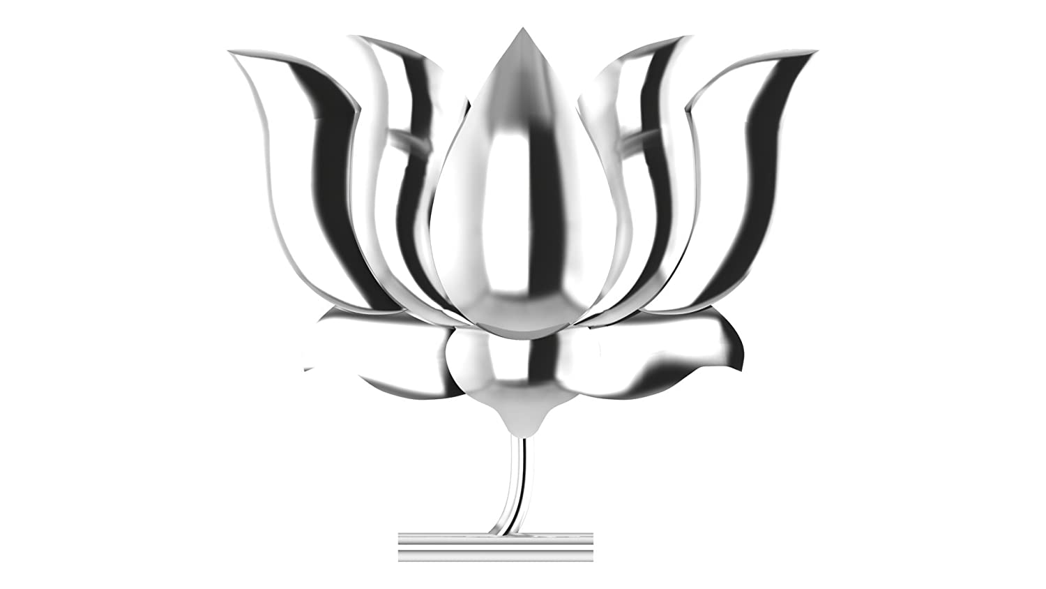 Buy Jewelsera Luxurious Silver Lotus Shape Brooch Bjp Party Sign