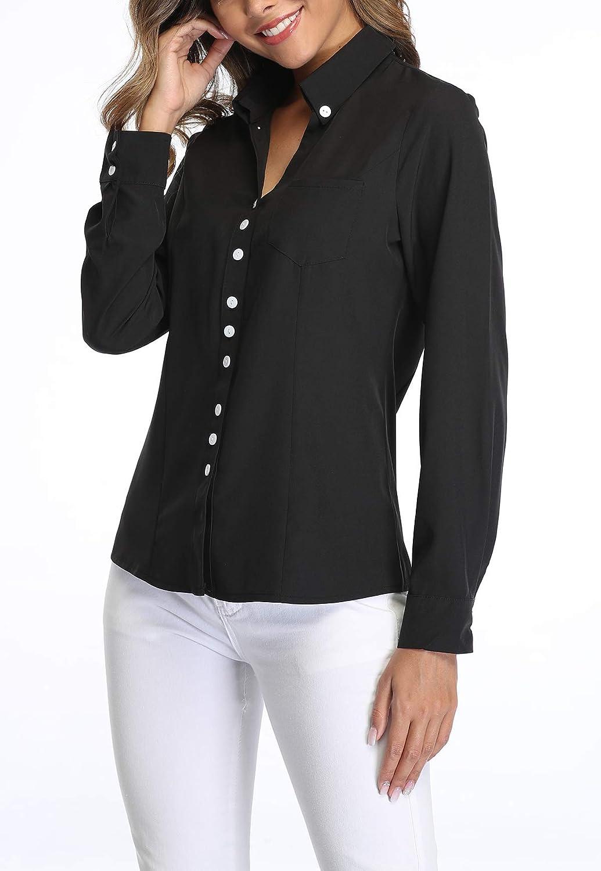 MISS MOLY damskjorta långärmad blus skjortblus affärströja svart