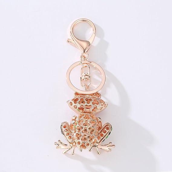 Handtaschen Schlüsselanhänger Kristall Frosch Charm Auto Schlüsselring