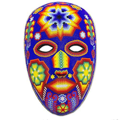 Huichol Mask (NOVICA Decorative Huichol Papier Mache and Beads Mask, Multicolor 'Estrella')