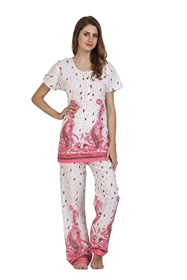 47a6730635 Miavii Women's Printed Cotton Night Suit -Combo of 2: Amazon.in: Clothing &  Accessories
